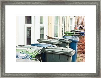 Rubbish Bins Framed Print by Tom Gowanlock