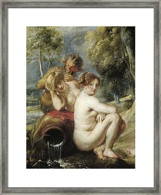 Rubens, Peter Paul 1577-1640. Nymphs Framed Print by Everett