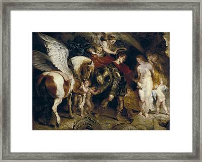 Rubens, Peter Paul 1577-1640. Perseus Framed Print by Everett