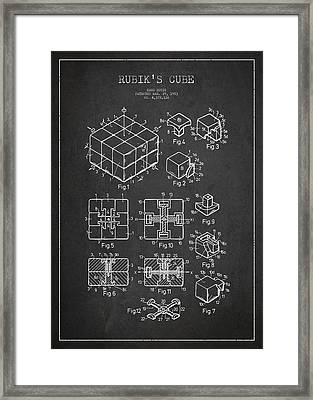 Rubiks Cube Patent Framed Print by Aged Pixel