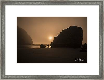 Ruby Beach Sunset Framed Print