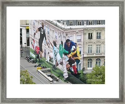 Rugby In Paris Framed Print by Ann Horn