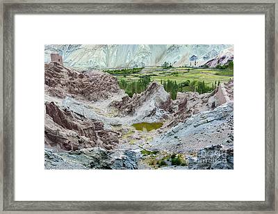 Ruins At Basgo Monastery Ladakh India Framed Print