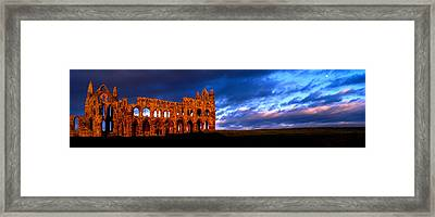 Ruins Of A Church, Whitby Abbey Framed Print