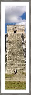 Ruins Of A Pyramid, Kukulkan Pyramid Framed Print by Panoramic Images