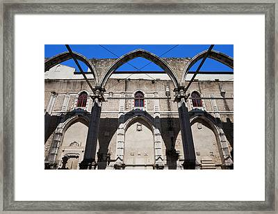 Ruins Of Carmo Convent In Lisbon Framed Print by Artur Bogacki