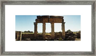 Ruins Of The Roman Town Of Hierapolis Framed Print by Panoramic Images
