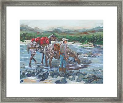 Running Gun Framed Print by Gail Daley