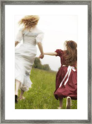 Running Framed Print