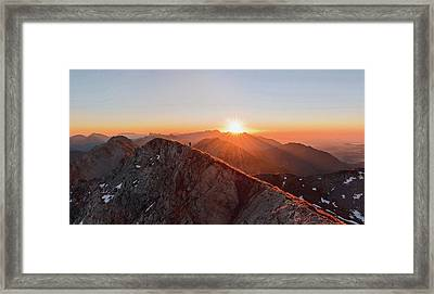 Running On The Ridge Framed Print