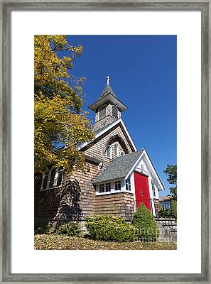 Rural Church Framed Print