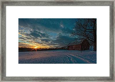 Rural Sunset II Framed Print