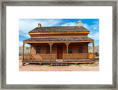 Russell Home - Grafton Ghost Town - Utah Framed Print by Gary Whitton
