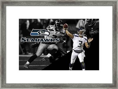 Russell Wilson Seahawks Framed Print