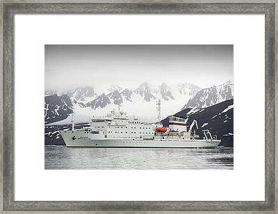 Russian Research Vessel Framed Print by Ashley Cooper