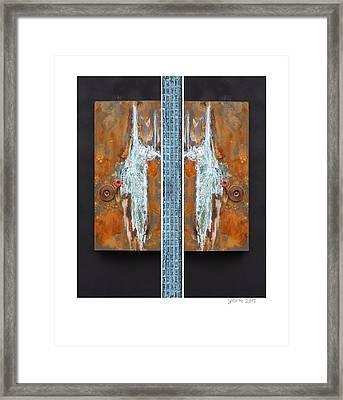 Rust Art 02 Framed Print by Gertrude Scheffler