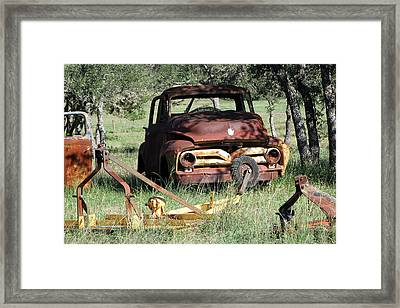 Rust In Peace No. 2 Framed Print