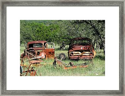 Rust In Peace No. 3 Framed Print