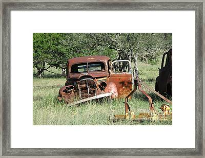 Rust In Peace No. 5 Framed Print