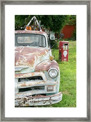 Rusted Antique Automobile, Tucumcari Framed Print