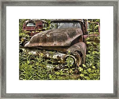 Rusty And Crusty Truck Framed Print