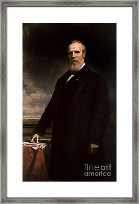 Rutherford B Hayes Framed Print by Daniel Huntington