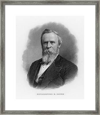 Rutherford Birchard Hayes  19th Framed Print by Mary Evans Picture Library
