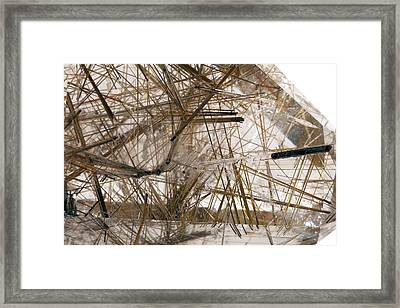 Rutilated Quartz Framed Print by Science Photo Library