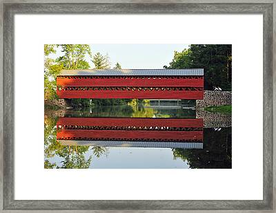 Framed Print featuring the photograph Sachs Covered Bridge by Dan Myers