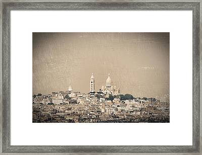 Sacre Coeur Basilica Of Montmartre In Paris Framed Print