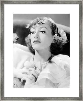 Sadie Mckee, Joan Crawford, 1934 Framed Print
