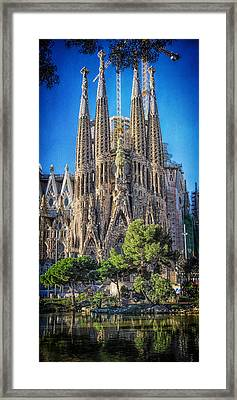 Sagrada Familia Nativity Facade Framed Print by Joan Carroll