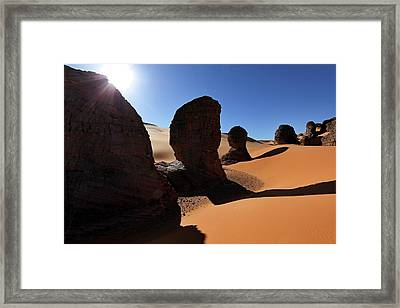 Saharan Rock Formations Framed Print