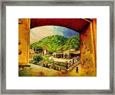 Saidpur Village Framed Print by Catf