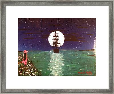 Framed Print featuring the painting Sail Away by Michael Rucker