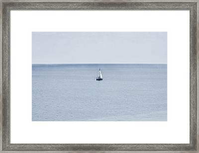 Framed Print featuring the photograph Sail Away by Zoe Ferrie