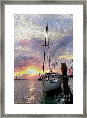 Sailboat Framed Print by Jon Neidert