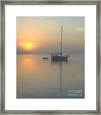 Sailboat Reflection Framed Print by Bob Sample