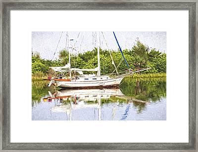 Sailboat Reflections Framed Print by Alice Gipson