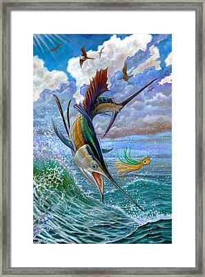 Sailfish And Lure Framed Print