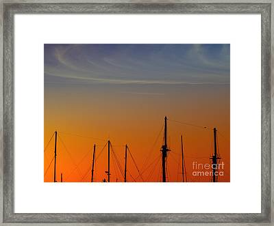 Sailing Boats Framed Print by Stelios Kleanthous