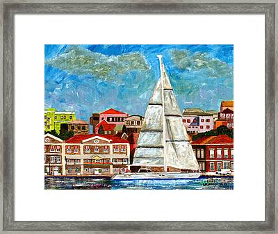 Sailing In Framed Print
