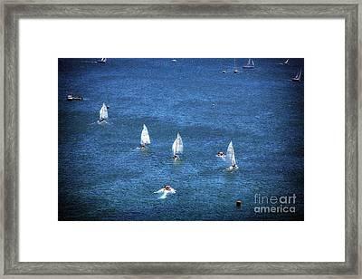 Sailing Framed Print by John Rizzuto