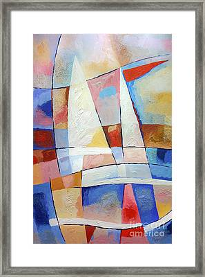 Sailing Joy Framed Print by Lutz Baar