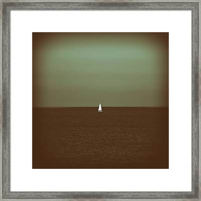 Sailing Framed Print by Stelios Kleanthous