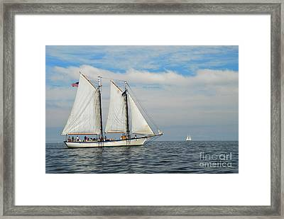 Sailing The Open Seas Framed Print by Allen Beatty