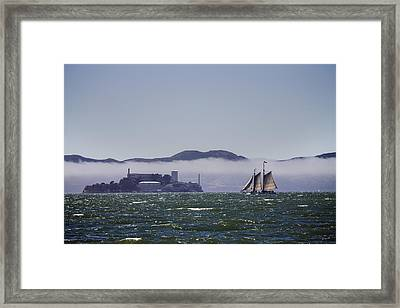Sailing To Alcatraz Framed Print by Dee  Savage