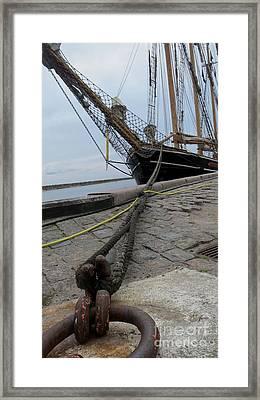 Sailship In Marstal Framed Print