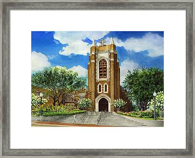 Saint Andrews Episcopal Church Bryan Texas Framed Print