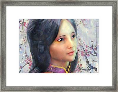 Framed Print featuring the digital art Saint Anna Wang  by Suzanne Silvir